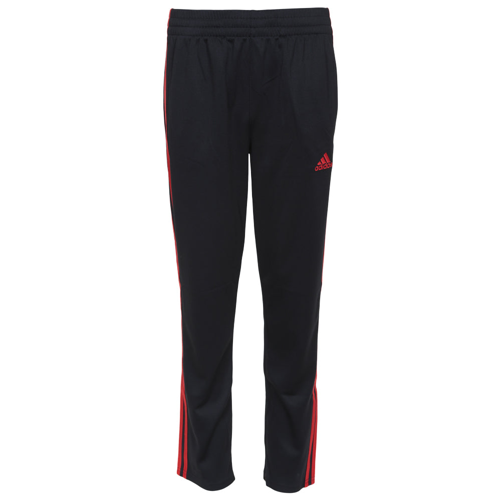 ADIDAS BOY'S MESH PANT BLACKRED