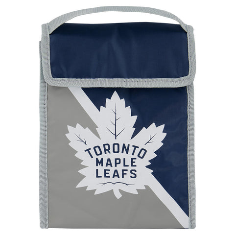 FOREVER COLLECTIBLES TORONTO MAPLE LEAFS TWO TONE VELCRO LUNCH BAG