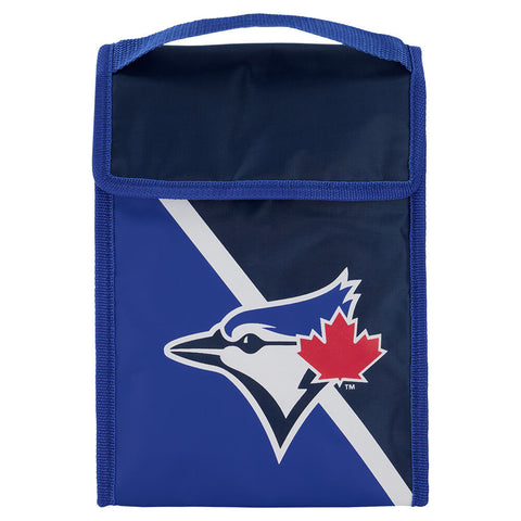 FOREVER COLLECTIBLES TORONTO BLUE JAYS TWO TONE VELCRO LUNCH BAG