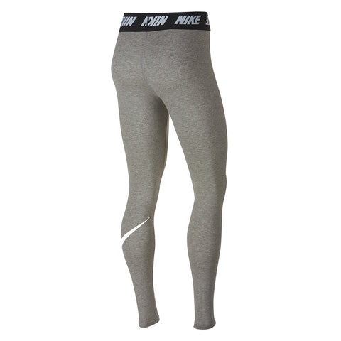 NIKE WOMENS' CLUB HIGH-RISE LEGGING DARK GREY HEATHER/WHITE