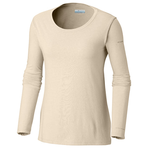 COLUMBIA WOMEN'S SOLAR SHIELD LONG SLEEVE LIGHT BISQUE