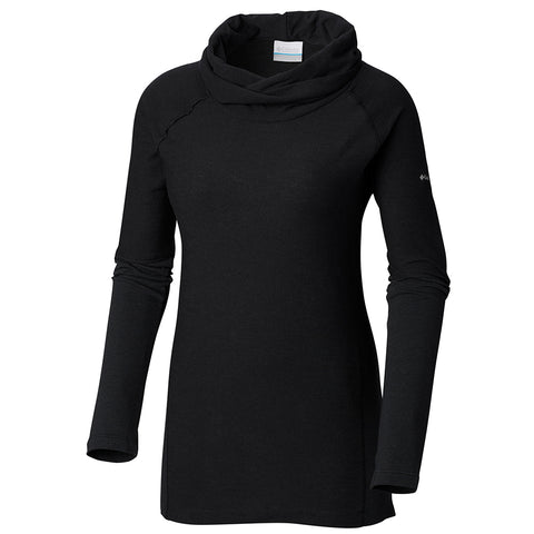 COLUMBIA WOMEN'S EASY GOING II LONG SLEEVE COWL BLACK