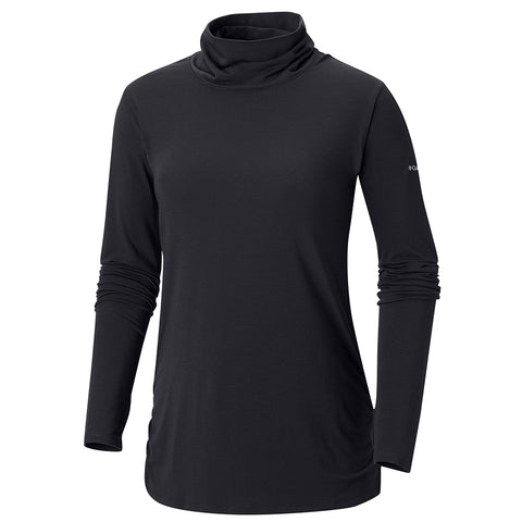 COLUMBIA WOMEN'S TAKE IT EASY LONG SLEEVE TEE BLACK