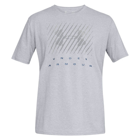 UNDER ARMOUR MEN'S UA BRANDED BL SHORT SLEEVE TOP STEEL LIGHT HEATHER