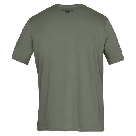 UNDER ARMOUR MEN'S SPORTSTYLE LEFT CHEST SS TOP MOSS GREEN BACK