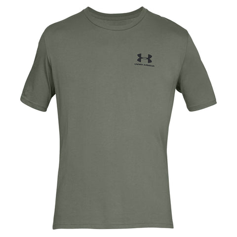 UNDER ARMOUR MEN'S SPORTSTYLE LEFT CHEST SS TOP MOSS GREEN