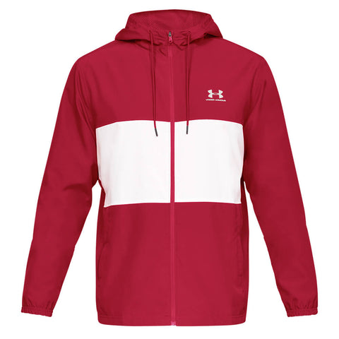 UNDER ARMOUR MEN'S SPORTSTYLE WIND JACKET RED