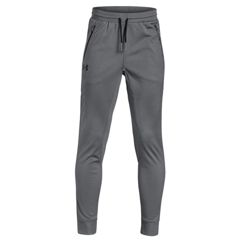 UNDER ARMOUR BOY'S PENNANT TAPERED PANTS GRAY