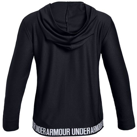 UNDER ARMOUR GIRL'S PLAY UP FULL ZIP JACKET BLACK