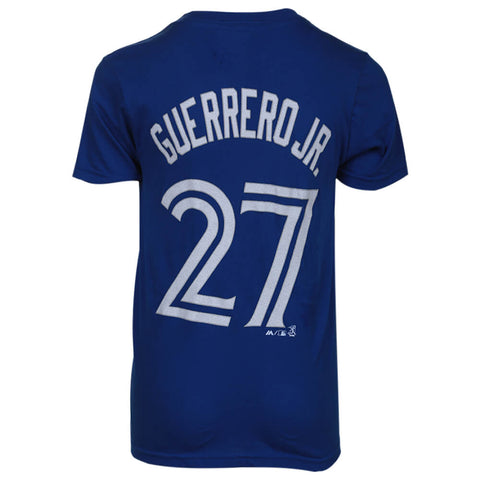 OUTERSTUFF YOUTH TORONTO BLUE JAYS GUERRERO JR SHORT SLEEVE PLAYERS TOP BLUE