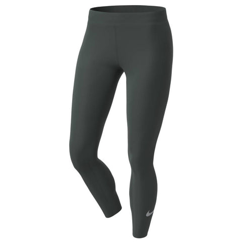 NIKE WOMENS' ONE LUXE 7/8 TIGHT OUTDOOR GREEN/CLEAR