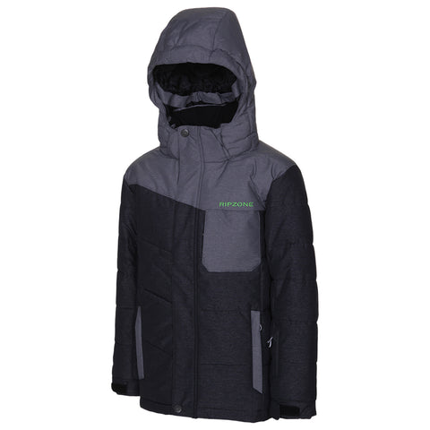 RIPZONE BOYS RANDALL DOWN JACKET BLACK