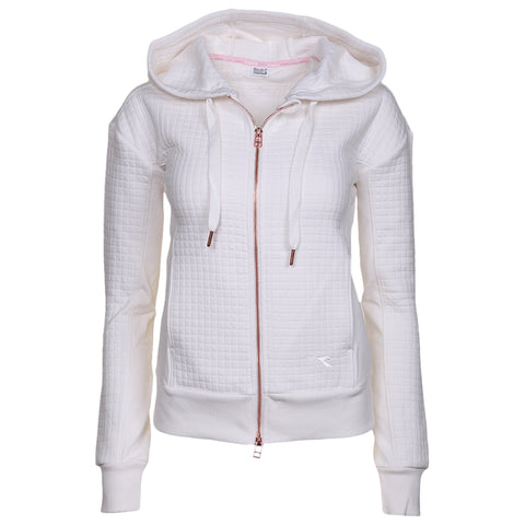 DIADORA WOMEN'S CROPPED ZIP HOODY CREAM