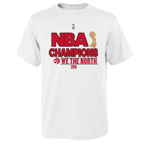 OUTERSTUFF 4-7 TORONTO RAPTORS 2019 FINALS CHAMPS SHORT SLEEVE TOP WHITE