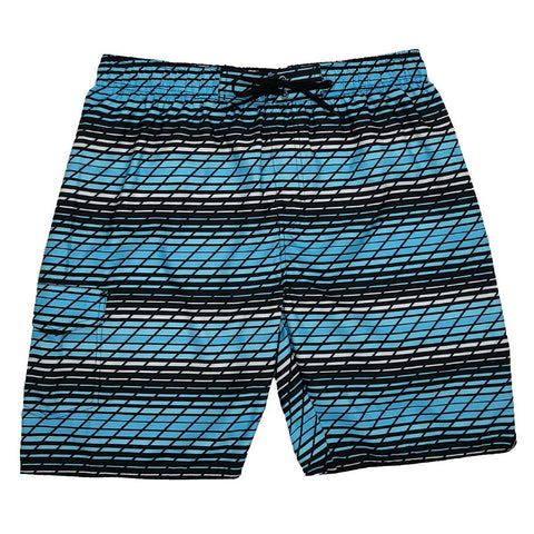 BURNSIDE BOY'S SWIM SHORT SKY BLUE