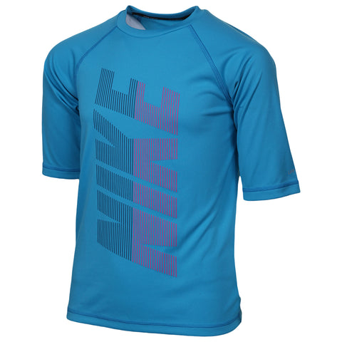 NIKE BOY'S HALF SLEEVE HYDROGUARD LIGHT BLUE FURY