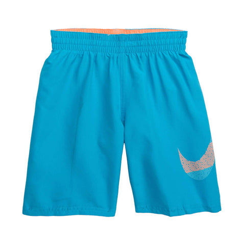 NIKE BOY'S 8 VOLLEY SHORT LIGHT BLUE FURY