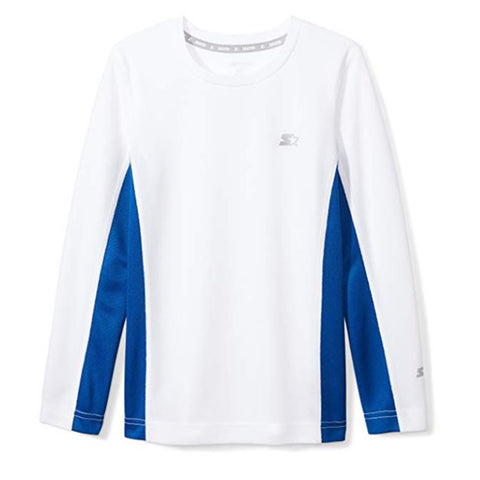 STARTER BOY'S LONG SLEEVE TEE WHITE