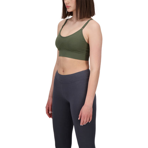 DIADORA WOMEN'S 2IN1 SEAMLESS STRAPPY BRA GRAPE LEAF GOLD
