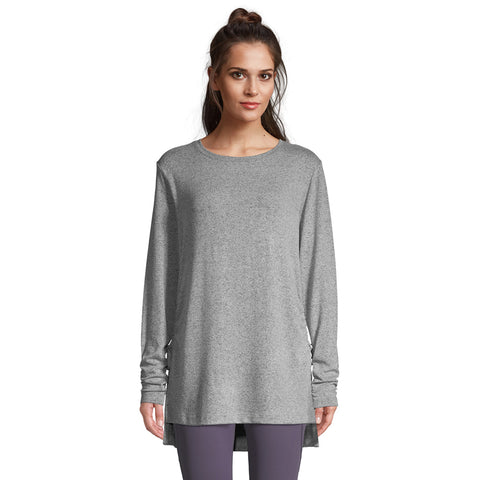 DIADORA WOMEN'S SLOUNGE LONG SLEEVE PULLOVER HARBOR MIST