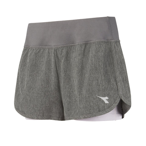 DIADORA WOMEN'S DUAL SHORT CHARCOAL/ PINK