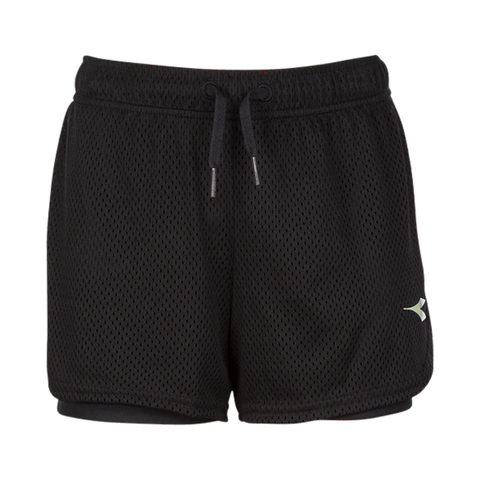 DIADORA GIRL'S DUAL SHORT BLACK