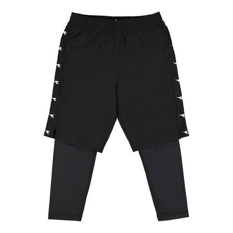 DIADORA BOY'S DUAL TRAINING SHORT BLACK