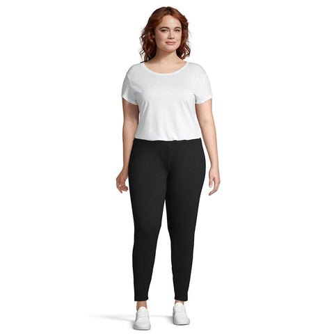 RIPZONE WOMEN'S BELLE SOLID LEGGING BLACK PLUS SIZES 1X-2X