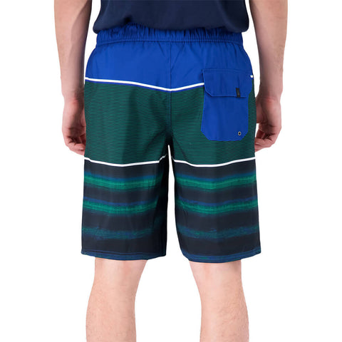 RIPZONE MEN'S COMBERS 20'' STRIPED SWIM TRUNK BLUE