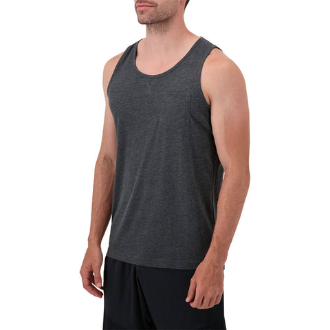 RIPZONE MEN'S PIPER SOLID TANK TOP BLACK