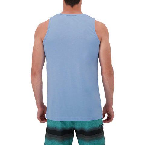 RIPZONE MEN'S PIPER SOLID TANK TOP BEL AIR BLUE