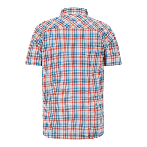 MCKINLEY MEN'S ASTRA PLAID SHORT SLEEVE TOP RED MAPLE