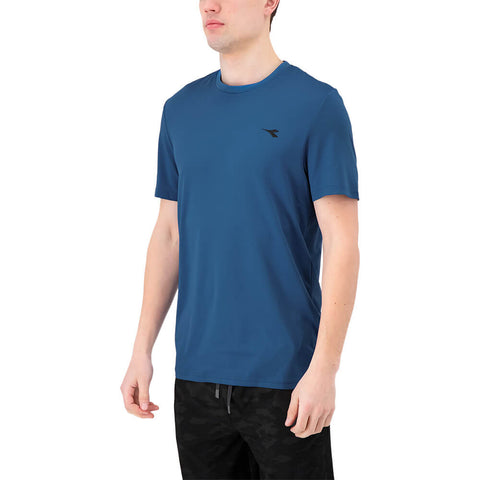 DIADORA MEN'S BASIC TECH SHORT SLEEVE TOP DARK BLUE