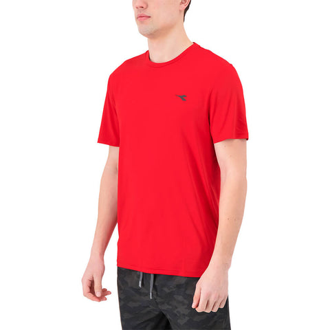 DIADORA MEN'S BASIC TECH SHORT SLEEVE TOP TANGO RED