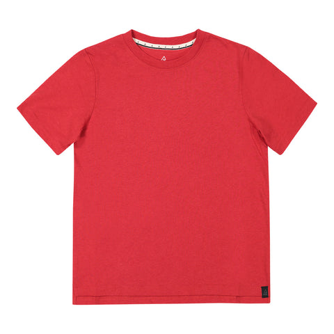 RIPZONE BOY'S TARO SOLID TEE BARBADOES CHERRY