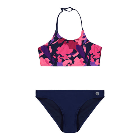 RIPZONE GIRL'S GMT2 ALVINA HIGHNECK BIKINI ROSE DARK