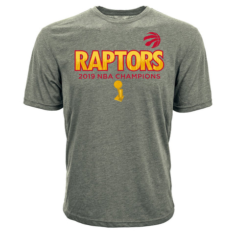 LEVELWEAR MEN'S TORONTO RAPTORS BIG CITY SHORT SLEEVE TOP STEEL GREY