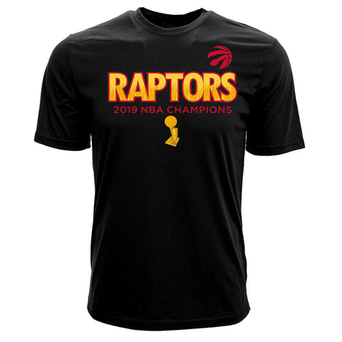 LEVELWEAR MEN'S TORONTO RAPTORS CHAMPS BIG CITY SHORT SLEEVE TOP BLACK