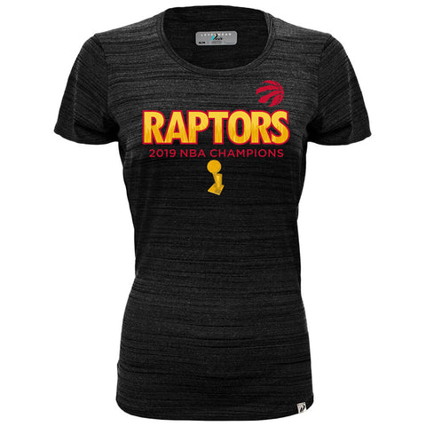 LEVELWEAR WOMEN'S TORONTO RAPTORS BIG CITY LUX SHORT SLEEVE TOP BLACK