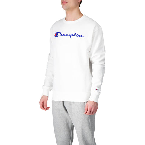 CHAMPION MEN'S POWERBLEND GRAPHIC CREW WHITE WHC