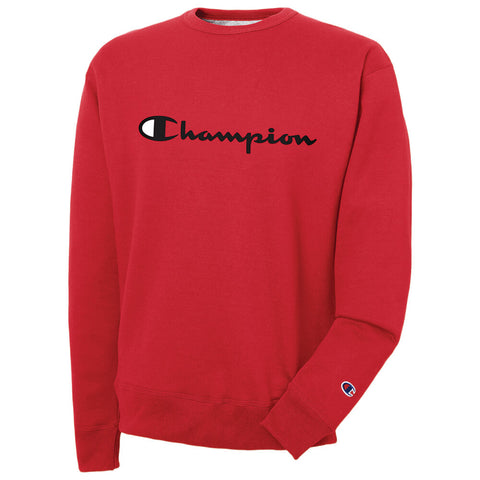 CHAMPION MEN'S POWERBLEND GRAPHIC CREW TEAM RED SCARLET 2WC