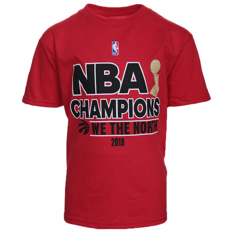 OUTERSTUFF 4-7 TORONTO RAPTORS NBA FINALS CHAMPS SHORT SLEEVE TOP RED