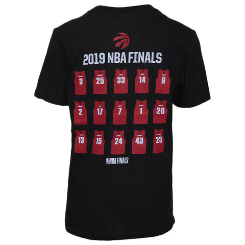 OUTERSTUFF YOUTH TORONTO RAPTORS NBA FINALS CHAMPS ROSTER SHORT SLEEVE TOP BLACK