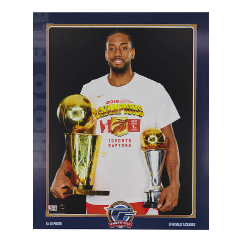 THE SPORTS COMPANY TORONTO RAPTORS NBA CHAMPS PICTURE LEONARD WITH TROPHY