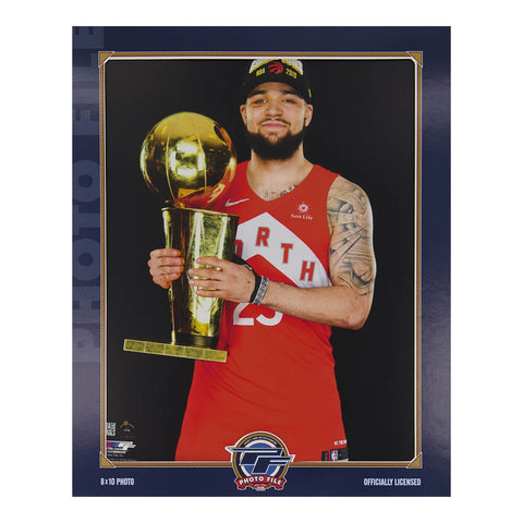 THE SPORTS COMPANY TORONTO RAPTORS NBA CHAMPS PICTURE VANVLEET WITH TROPHY