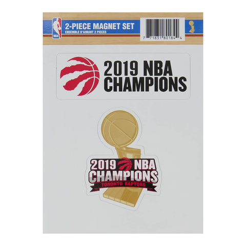 THE SPORTS VAULT TORONTO RAPTORS CHAMPIONS 2 PIECE MAGNET SET
