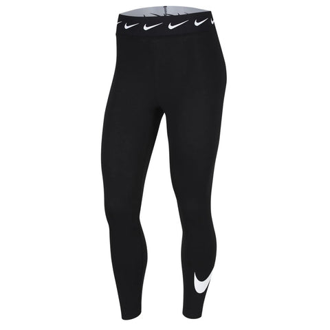 NIKE WOMEN'S NSW LEGGING CLUB HIGH WAISTED SWOOSH BLACK