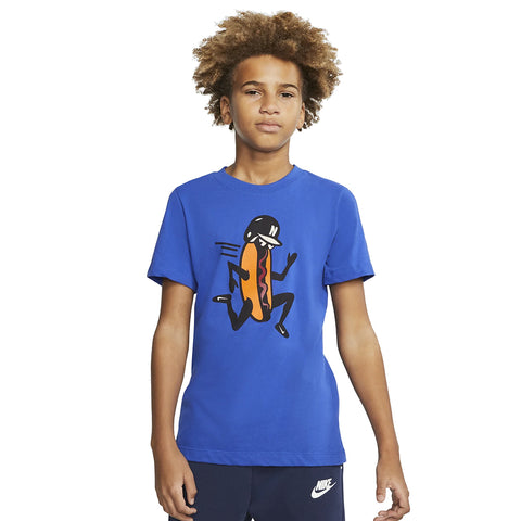 NIKE BOY'S DRY TEE BASEBALL HOTDOG GAME ROYAL