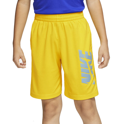 NIKE BOY'S DRY HBR SHORT SPEED YELLOW/CERULEAN