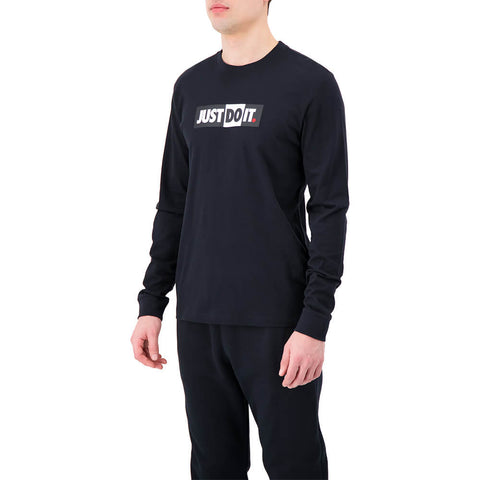 NIKE MEN'S NSW JUST DO IT LONG SLEEVE TOP BLACK